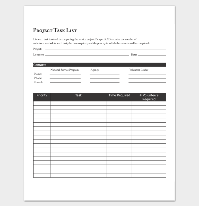 Project Task Sheet 1