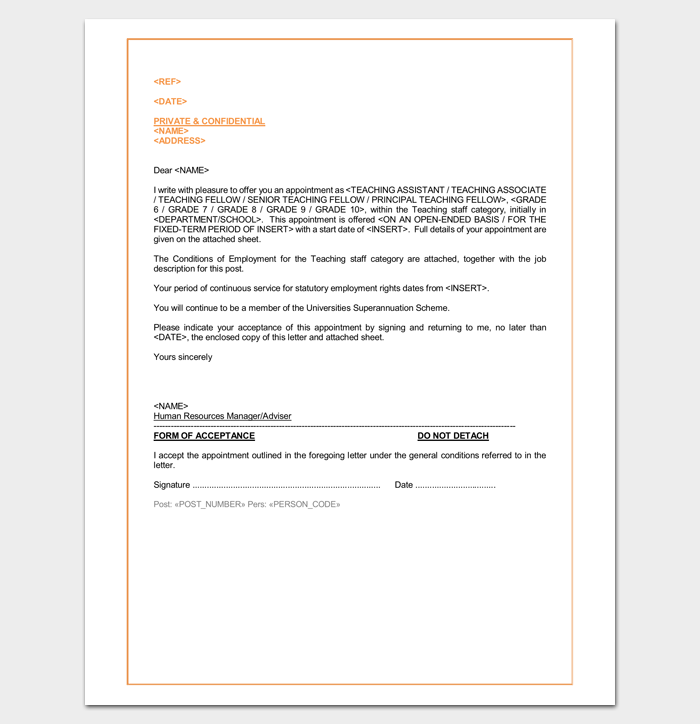 Sample-Appointment-Letter-for-School-Prinl Sample Application Letter For Employment As Teacher on