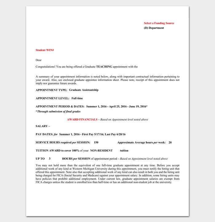 Teaching Job Appointment Letter 1