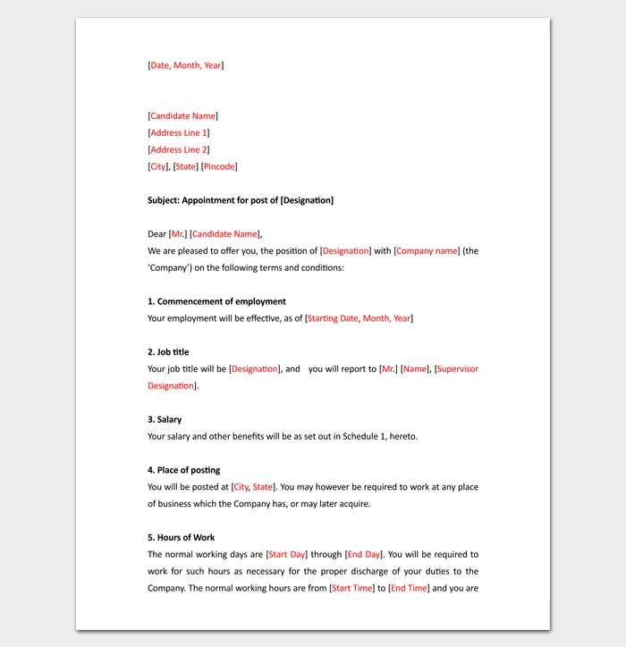 Trainee-Appointment-Letter-in-PDF-Format-1 Va Appointment Letter Template on doctor-patient reschedule, sample trustee, missed doctor, missed your,