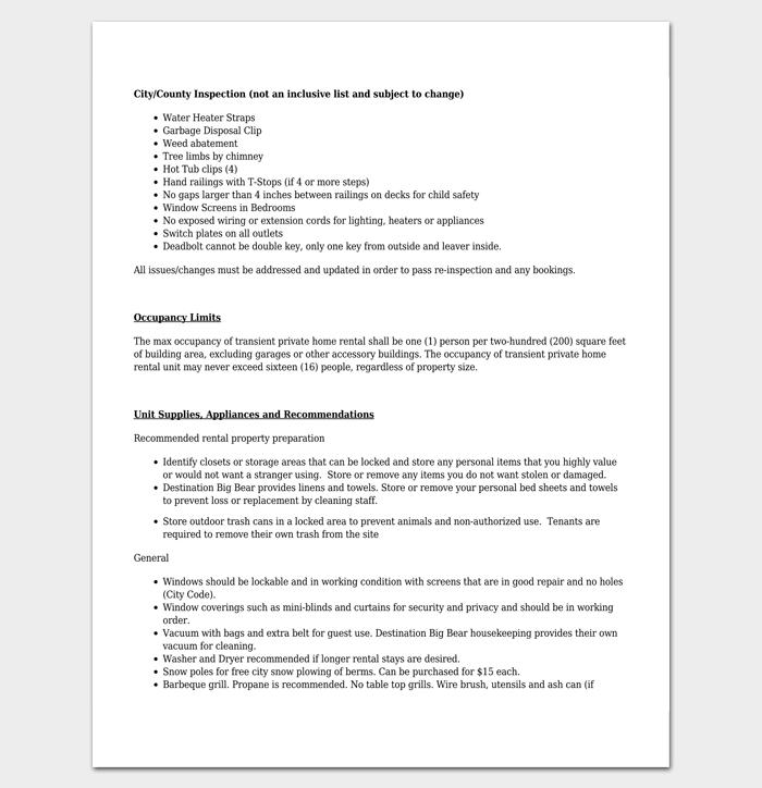 Vacation Rental Checklist 1