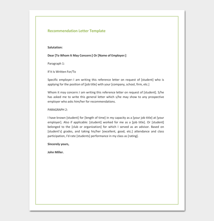 Recommendation Letter for Promotion - Free Samples & Formats