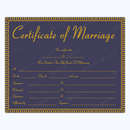 Marriage Certificate 19 MUL 1 450×450