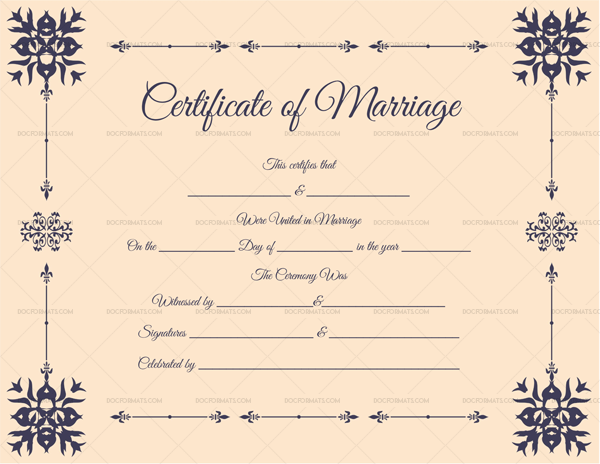 Editable Marriage Certificate Format