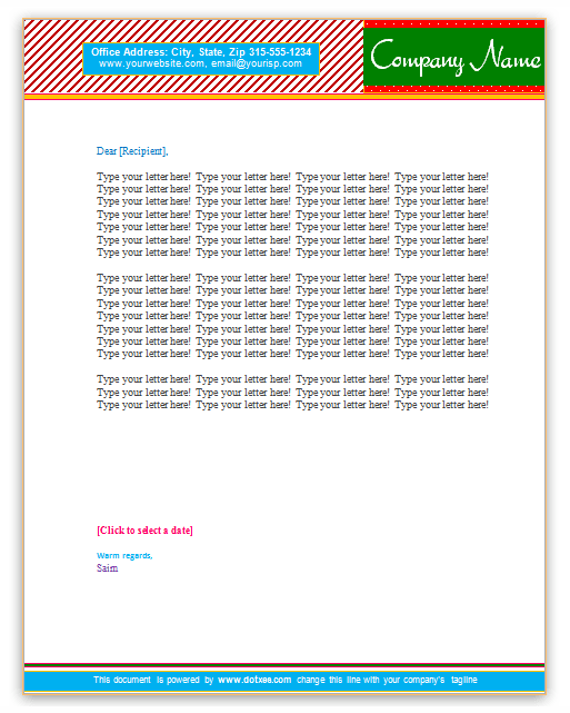 Letterhead-Template-(Simple-Pattern-Design)
