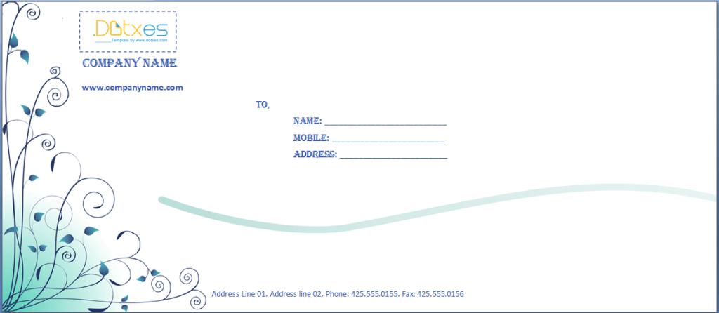 Business-envelope-template-(Blue-design)