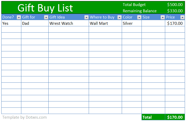 Buy-gift-checklist-Excel-template