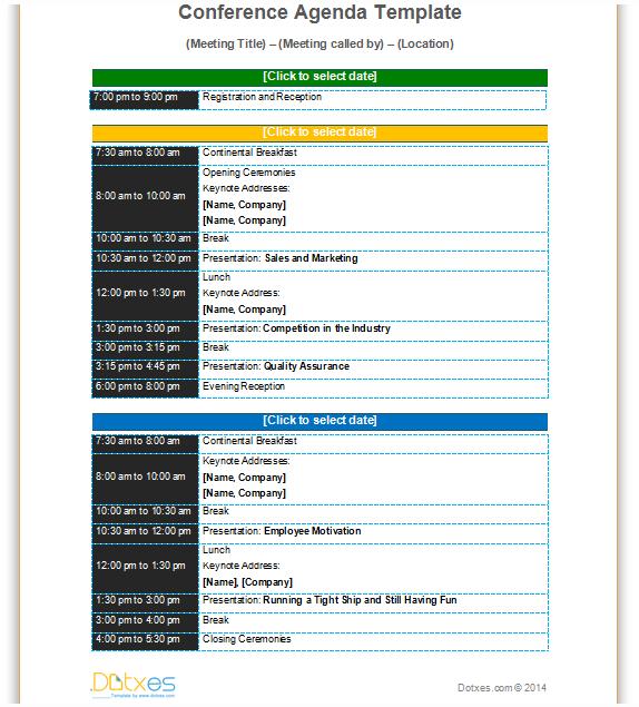 Conference-agenda-template