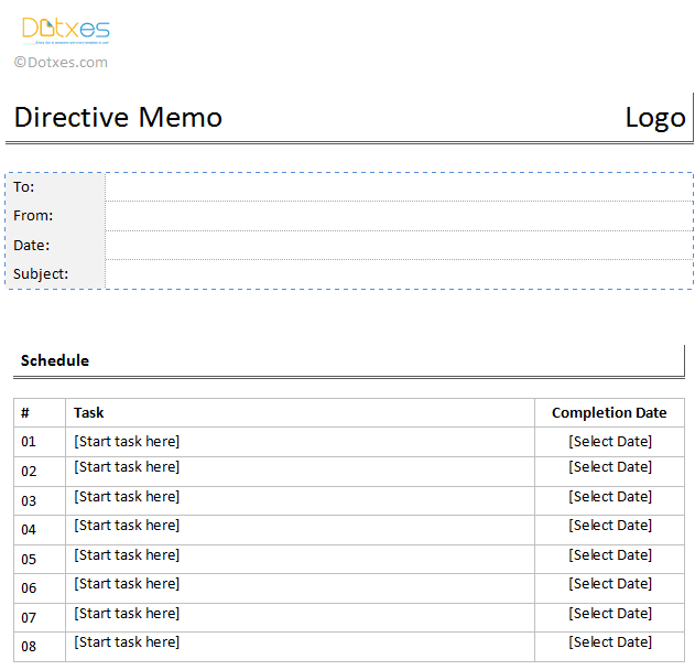 Directive-Memo-Template-in-table-format