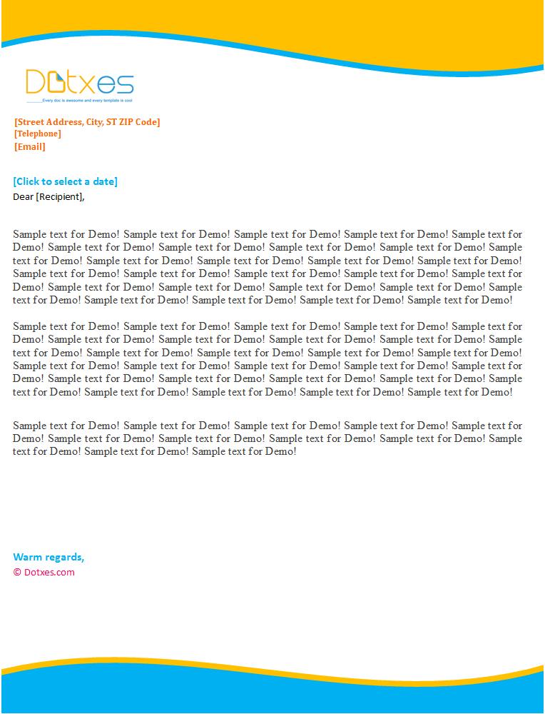 Personal Letterhead Template (Sky Blue Design)