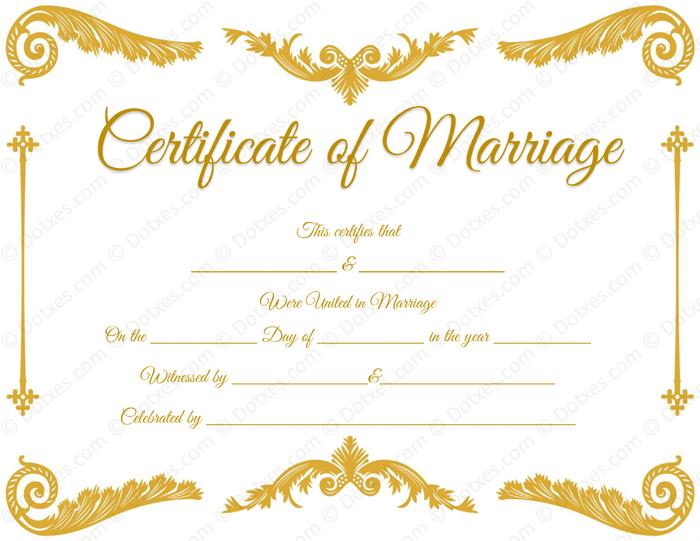 Royal Corner Marriage Certificate Format