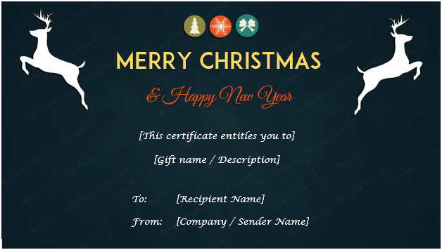 Christmas Gift Certificate (Midnight Blue)