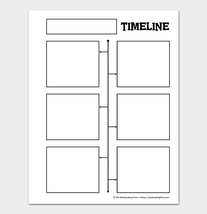 Kids Blank Timeline Template PDF