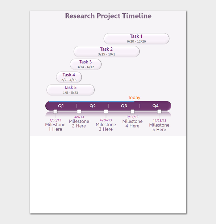 image relating to Printable Timelines named PowerPoint Timeline Template - 5+ Totally free Printable Timelines